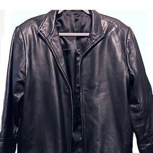🍁Jacket-Motorcycle, Leather, Black, Zipper
